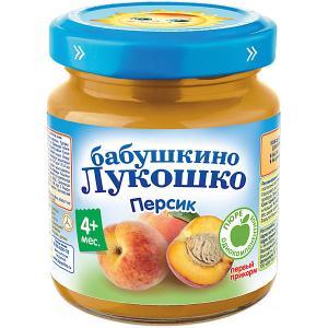 Пюре  персик, с 4 мес, 6 шт х 100 г Бабушкино Лукошко