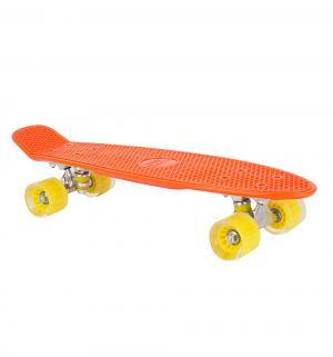 Скейтборд  S-2206E, цвет: оранжевый Leader Kids