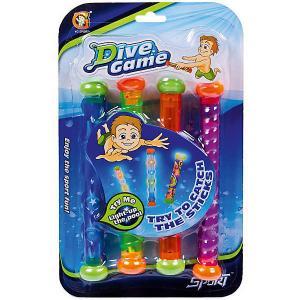 Набор игрушек для купания , 4 светящихся водонепроницаемых палочек YG Sport. Цвет: разноцветный