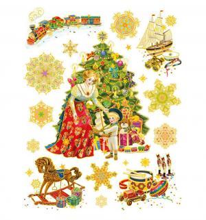 Наклейка  Винтажный подарок Яркий Праздник