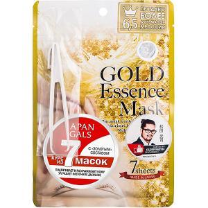 Маска  с золотым составом, 7 шт Japan Gals