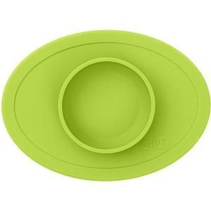 Тарелка с подставкой  Tiny Bowl лайм Ezpz