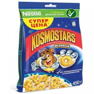 Готовый завтрак  Kosmostars медовые звездочки и луны, 450 г Nestle