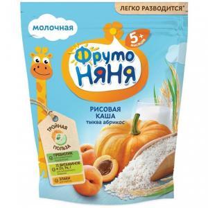 Каша  молочная рисовая с тыквой и абрикосами 5 месяцев 200 г ФрутоНяня
