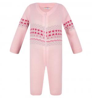 Комбинезон  Карамелька, цвет: розовый Уси-Пуси