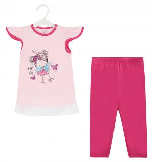 Комплект футболка/бриджи  Magiczna wrozka, цвет: розовый Koala