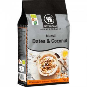 Мюсли с финиками и кокосами органические 750 г Urtekram