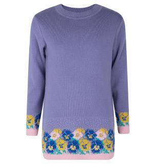 Платье  Незабудки, цвет: фиолетовый Free Age