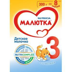 Детское молочко  3 с 12 месяцев, 300 г Малютка