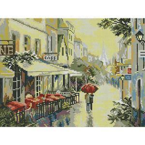 Алмазная мозаика  Прогулка по улицам Парижа Белоснежка