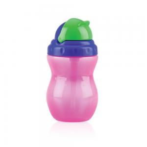 Поильник  Flip-It с трубочкой, 1 месяца, цвет: розовый Nuby