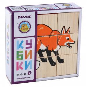 Кубики Животные леса, 9 штук, Томик