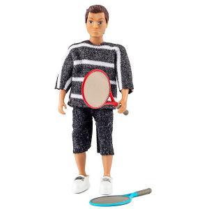 Кукла для домика  Папа с ракетками Lundby. Цвет: разноцветный