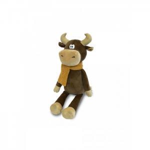Мягкая игрушка  Бычок Федот в вязаном шарфе 23 см Maxitoys