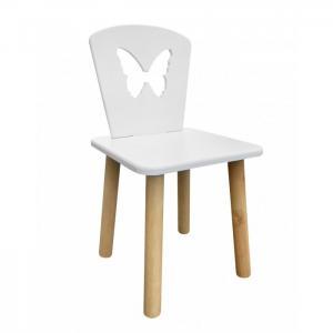Детский стул Бабочка (натуральный корпус) РусЭкоМебель