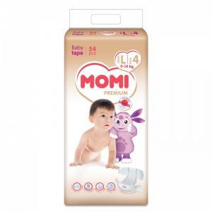 Premium подгузники L (9-14 кг) 54 шт Momi
