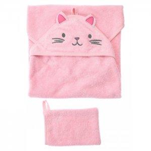 Набор детский текстильный для девочек (полотенце, варежка) Playtoday