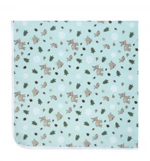 Пеленка  непромокаемая для пеленального столика с рисунком, 1 шт, цвет: голубой Multi-Diapers