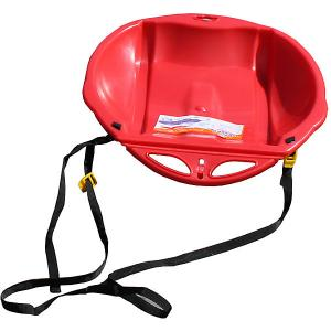 Санки-ледянки Веселый паровозик с ремнем (красный) Цикл. Цвет: красный