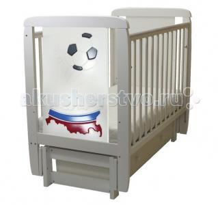 Детская кроватка  05 Триколор 3D с ящиком (поперечный маятник) Соня
