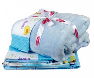 Комплект в кроватку  с покрывалом Zoo (5 предметов) Hobby Home Collection