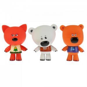 Набор из 3-х игрушек для ванны Мимимишки Лисичка, Белая Тучка и Кеша Капитошка