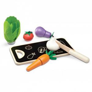 Деревянная игрушка  Игровой набор Овощи на досточке Wonderworld