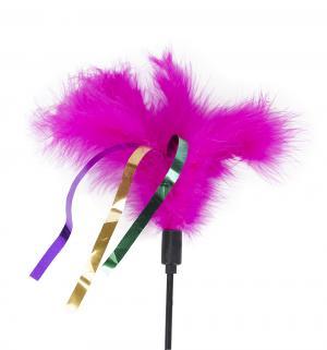 Игрушка для кошек  Дразнилка с перьями и ленточками, , 55см I.P.T.S.