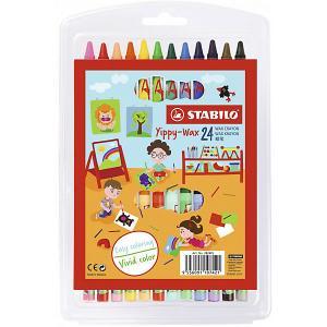 Набор восковых мелков Stabilo, 24 цвета STABILO. Цвет: разноцветный
