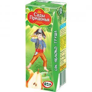 Сок  яблоко-груша, 200 мл Сады Придонья