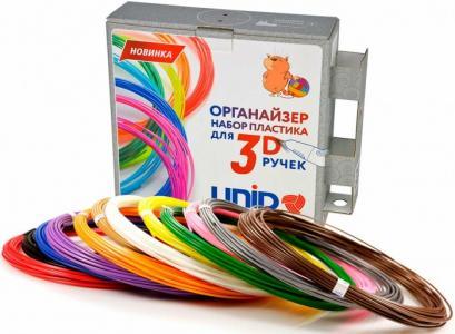 Комплект пластика ABS для 3Д ручек -12 цветов в органайзере Unid