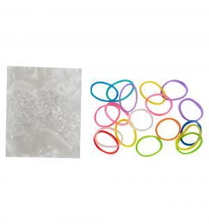 Набор  24 с-клипсы+резинки светло-розовые Rainbow Loom