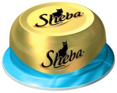 Влажный корм  для взрослых кошек, сочный тунец в нежном соусе, 80г Sheba