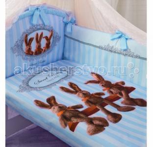 Комплект в кроватку  Sweet Rabbit (7 предметов) Золотой Гусь