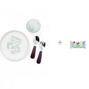 Посуда первой необходимости Munch Essentials и влажные салфетки L 20 шт. Manuoki Stokke