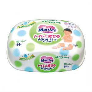 Влажные салфетки  для детей, 64 шт Merries