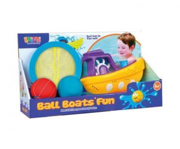 Набор для купания Весёлая лодочка (4 предмета) Наша Игрушка