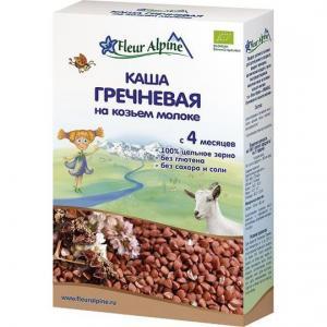 Каша  молочная гречневая с витаминами и минералами на козьем молоке 4 месяцев 200 г Fleur Alpine