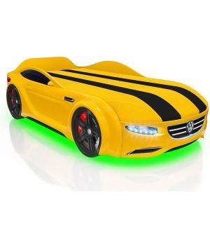 Кровать-машина  Junior Passat, цвет: желтый Romack