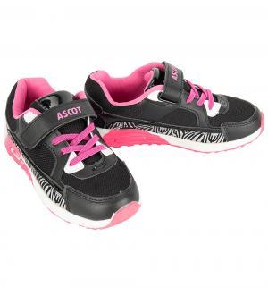 Кроссовки  Maxim, цвет: черный/розовый Ascot