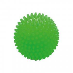Мяч ёжик зеленый люминесцентный, 18 см, МалышОК