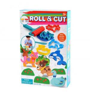 Набор для лепки застывающий  Roll and Cut 2 цвета Playgo
