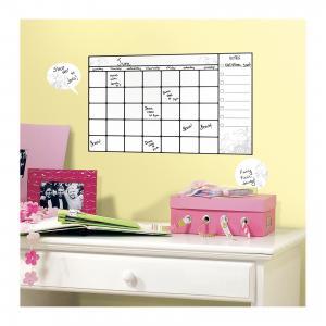 Наклейки для декора Календарь заметок (стирающиеся записи) RoomMates. Цвет: белый