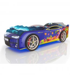 Кровать-машинка  Kiddy Синий пазл, цвет: Romack