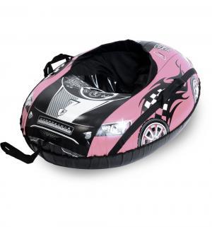Тюбинг  Машина Comfort овальный (91 см), цвет: розовый Тяни-Толкай