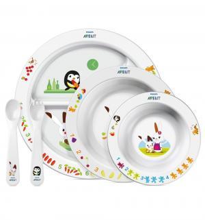 Набор посуды для кормления  SCF716/00, цвет: белый Philips Avent