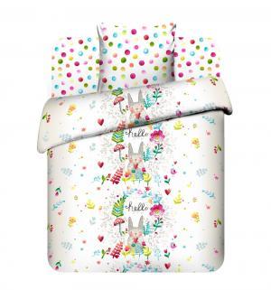 Комплект постельного белья  Привет малыш, цвет: белый Василек