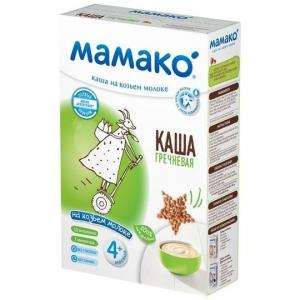 Каша  молочная гречневая на козьем молоке с 4 месяцев 200 г Мамако