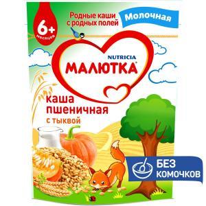 Каша  молочная пшеничная с тыквой 6 месяцев 220 г Малютка