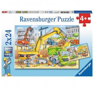 Пазлы  2 в 1 Стройка за окном Ravensburger